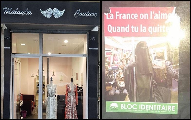 Fransa'da butik bir mağazanın vitrinine İslamofobik broşürler yapıştırıldı