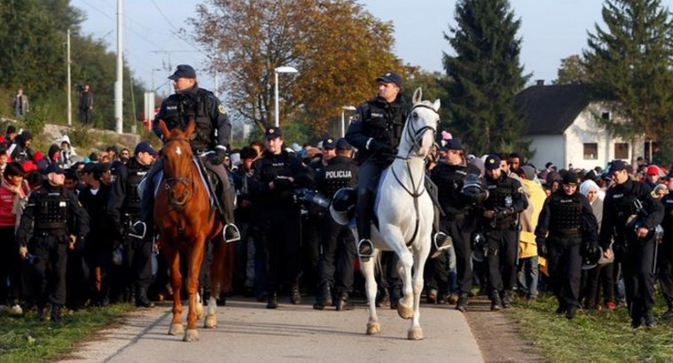 Police measure to refugee inflow by Slovenia