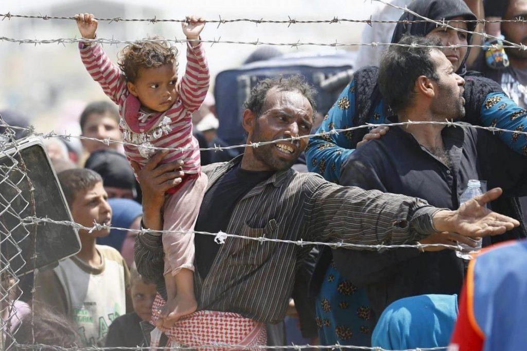 Fransa mülteci sokak
